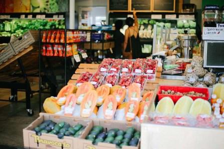 Fresh fruits at a farmers market