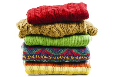 colorful knit sweaters