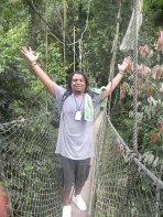 """Look, No hands!!"" Bryant on the Canopy Walkway"