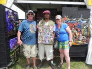 """Josh & Amy Deger are taking this piece """"Carnival Tyme"""" back to Groton, MA ."""