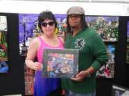 Shaunda Drader from Alberta Canada with a print of Zulu.