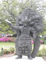 Culture of Mardi Gras Indians thru art.