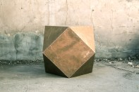 copper-clad cubodron side table