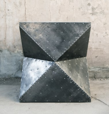 steel-clad cubodron foyer table
