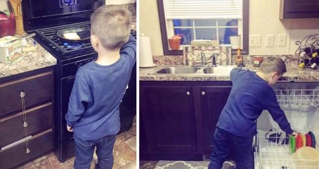 Au râs de ea când le-a zis că își pune fiul să facă curat, că îl învață să gătească, să spele. I-au zis că îl transformă în fetiță, dar când au aflat adevăratul motiv le-a venit să plângă. De ce face asta