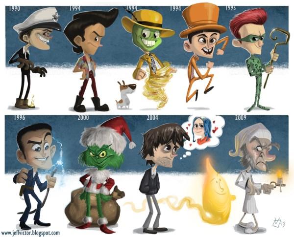 16 Amazing Actor Evolution Illustrations