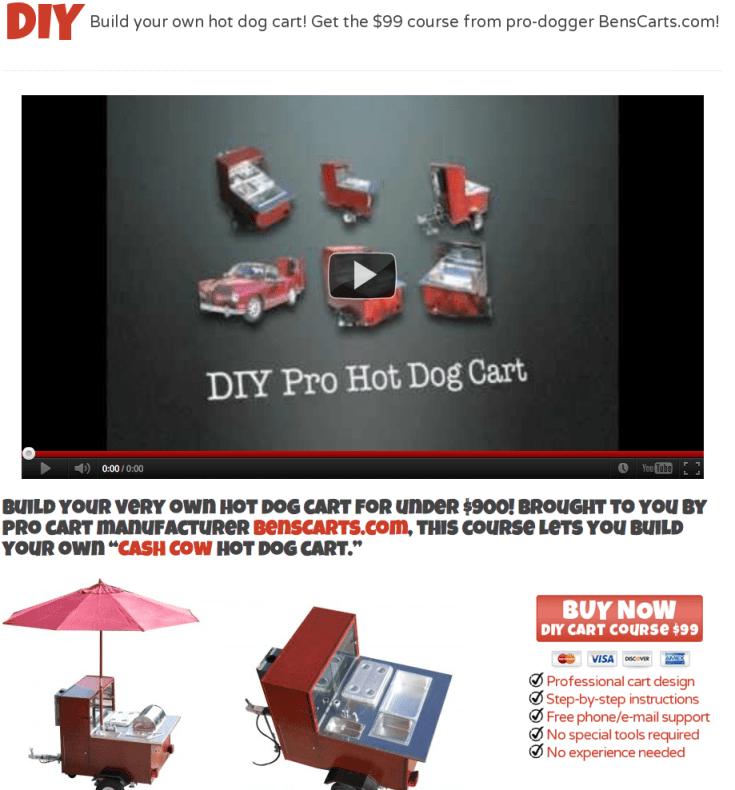 Build a hot dog cart plans