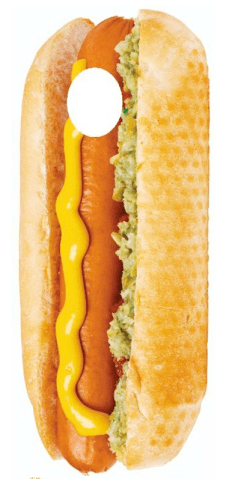 hot dog cutout