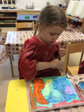 Exploring paint and pattern