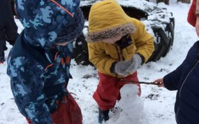 A snow day at nursery