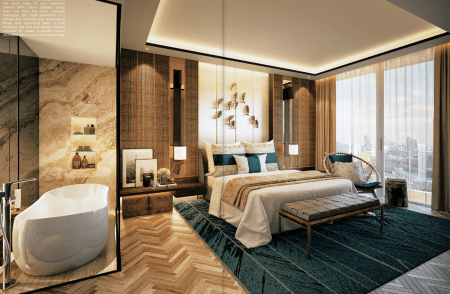 Artiste impression of Wangz standard for its One18 serviced residences