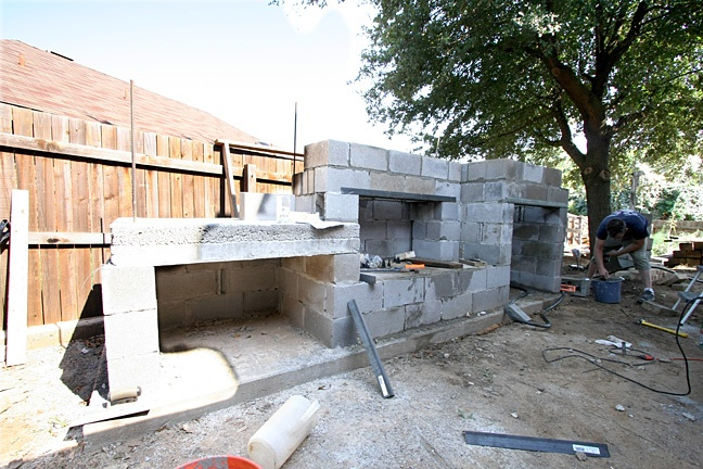 cinder block | Have YOU Ben Starr Struck? on Outdoor Fireplace With Cinder Blocks id=16841