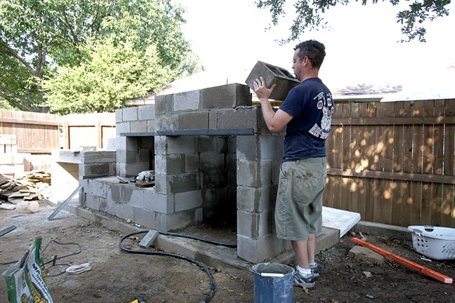 cinder block | Have YOU Ben Starr Struck? on Outdoor Fireplace With Cinder Blocks id=87598