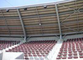 内野自由席の屋根
