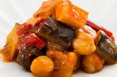 鶏の焼き野菜のとまと煮込み