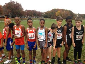 Fuse Academy Emmanuel Marshall running at Championship Meet