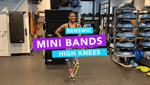 Mini Band High Knees