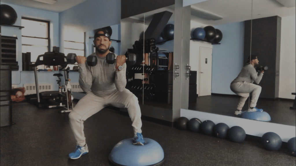 Benswic Bosu Ball Squat Exercises