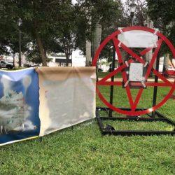 Christmas Satanic symbol causes outrage