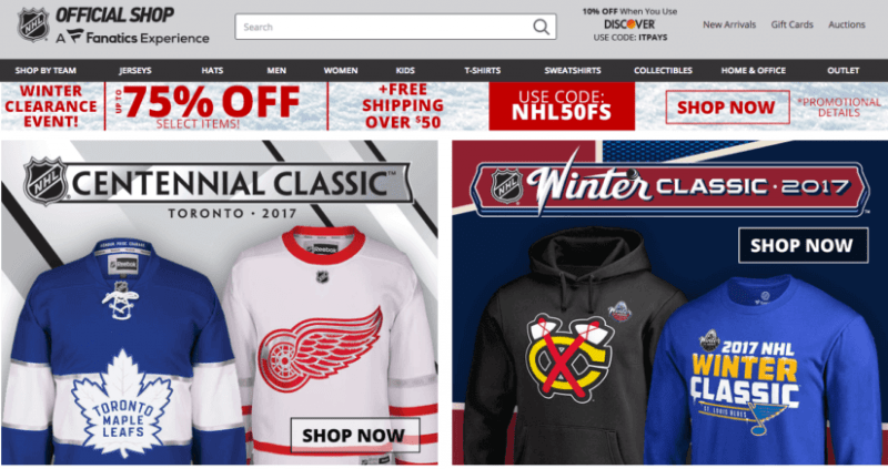 Have a Shop NHL.com account? Watch for credit card fraud