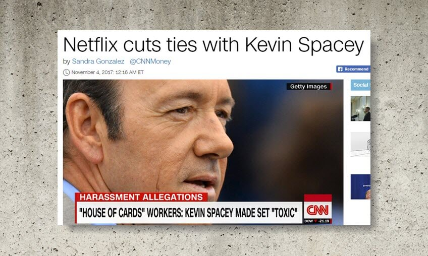 CNN lies about Netflix 'cutting ties' with Kevin Spacey