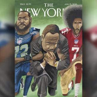 Martin Luther King Jr. refused to stand for the National Anthem?