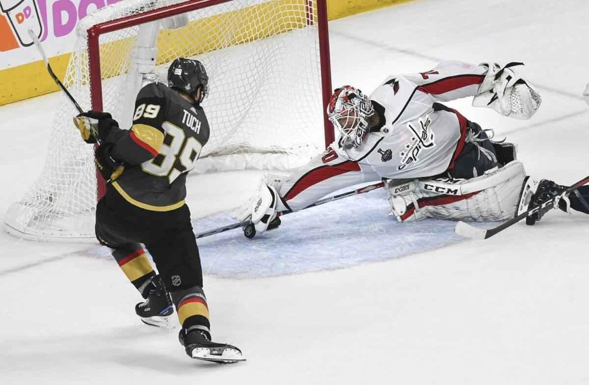 Washington Capitals and Las Vegas Golden Knights tied 1-1