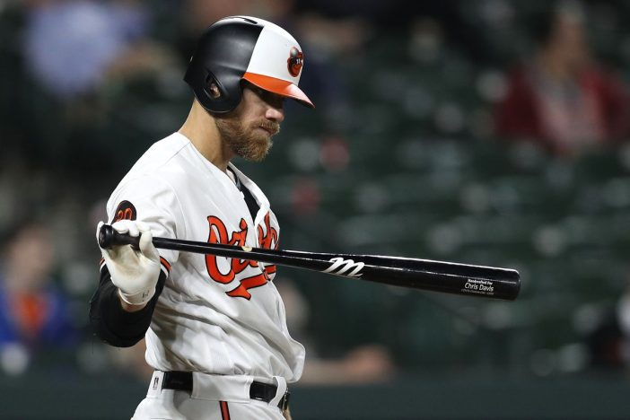 Baltimore Orioles Chris Davis now has 49 consecutive at-bats without a hit