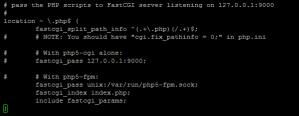 Configuration Nginx : PHP