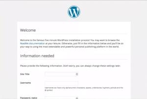Démarrage de WordPress