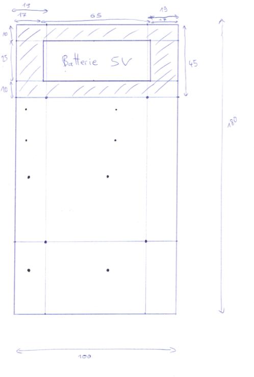 Schéma de découpe et perçage du 2nd étage