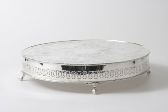 Silver Plated Wedding Cake Stand Round 40cm  16     Bentley Brown