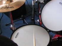 snare drum shure sm-57 top
