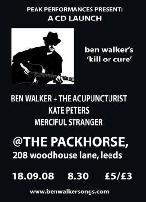 Ben Walker Gigs poster 2008