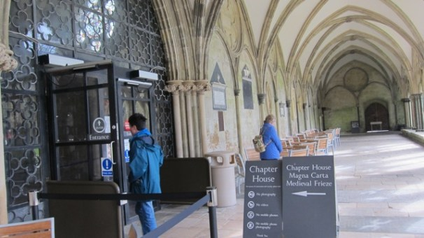 I visited Chapter House in Salisbury Cathedral to see the original copy of Magna Carta.