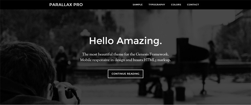 Parallax-theme-for-writers-