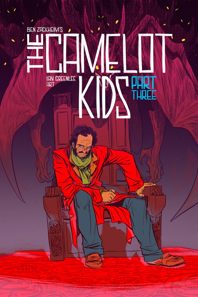 Nathan Fox cover illustrator of The Camelot Kids Part Three