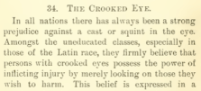 Beware the 'crooked eye'...and a little racism to add flavour (Lomax, p. 69)