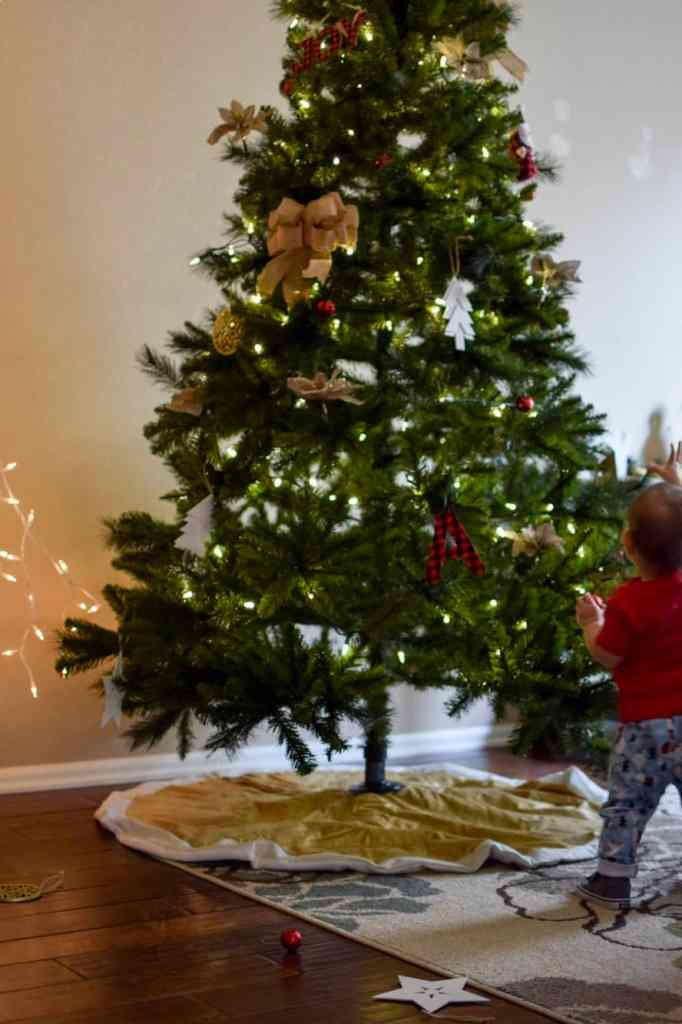 Safely Decorate a Christmas Tree