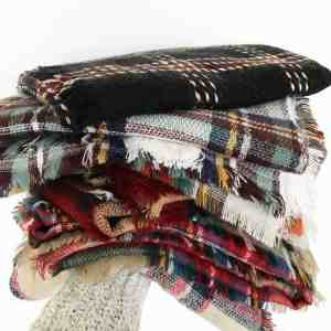 frou frou & Frill plaid scarves for mom gift