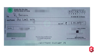 sample cheque - how to write one lakh on cheque