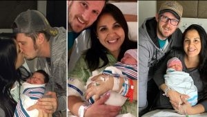 There's a triple celebration! On the SAME DAY, a Florida mother gave birth to all three of her daughters, ages six, three, and two months.