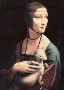 Leonardo da Vinci (Lady with Ermine)