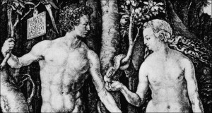 Engraving Of Adam And Eve