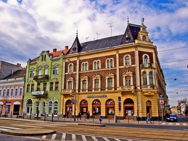 McDonald's on Piac utca in Debrecen, Hungary