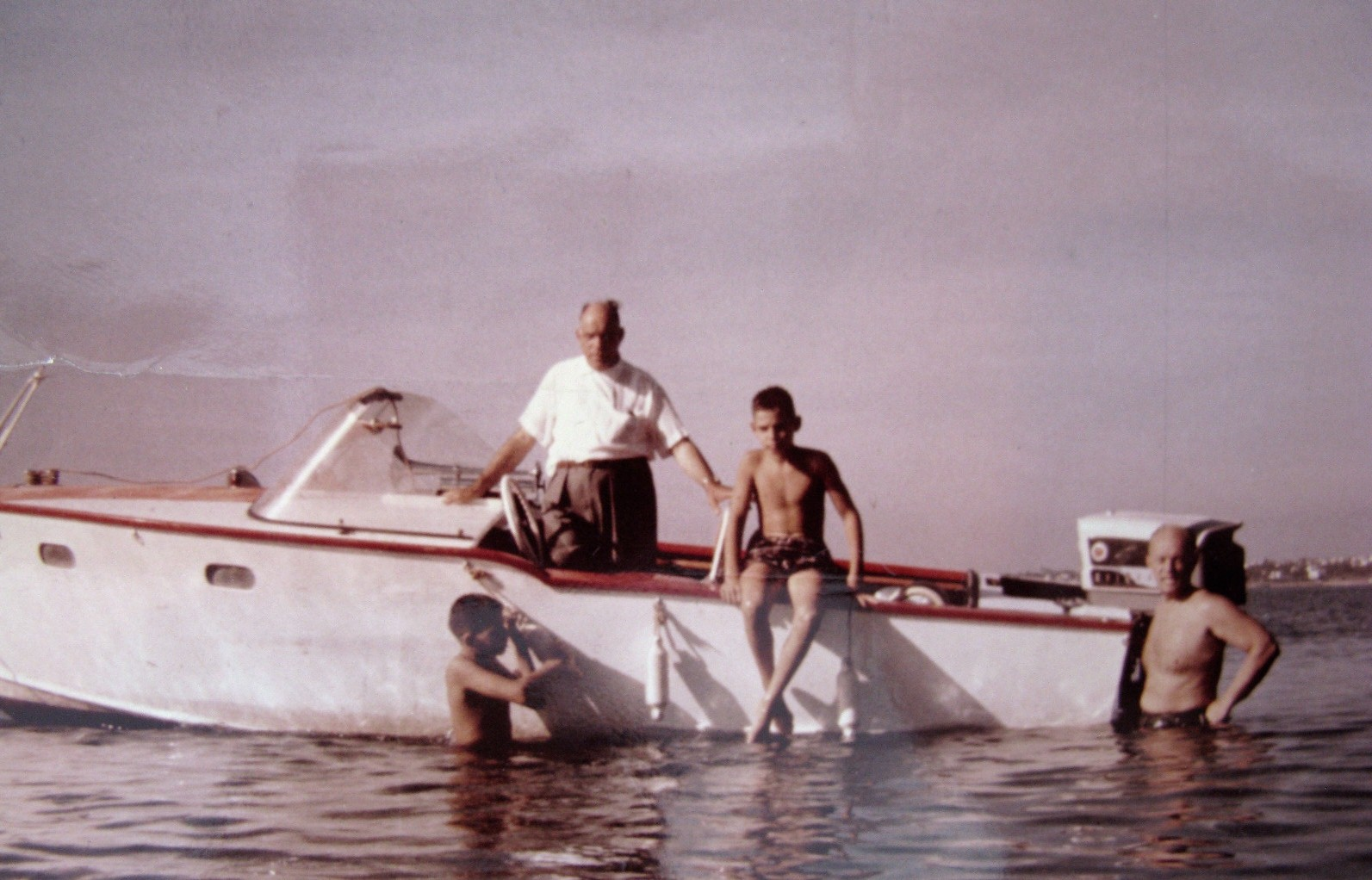 Our Dad with Nikos and Byron and a friend