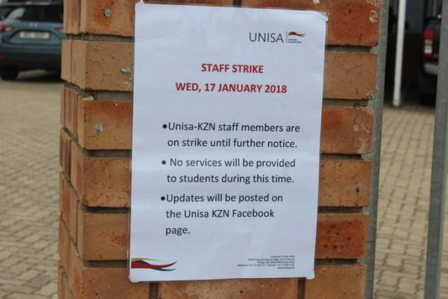 unisa on strike 2020