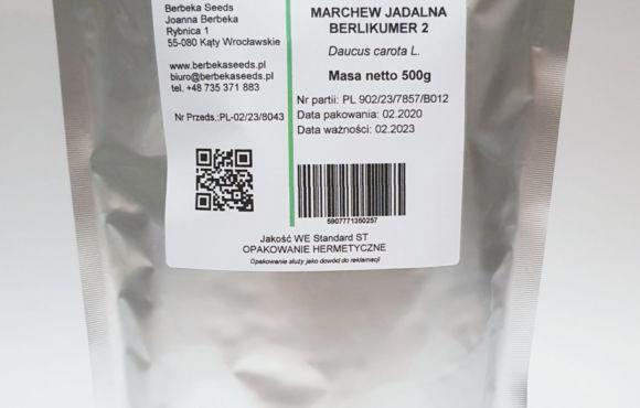 Marchew jadalna Berlikumer 2/ Daucus carota L. – 500g