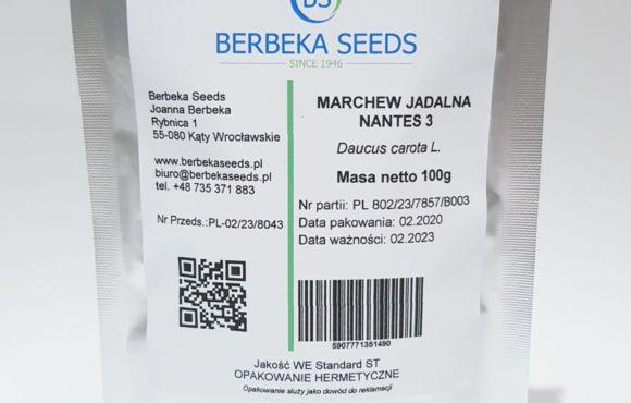 Marchew jadalna Nantes 3 / Daucus carota L. – 100g