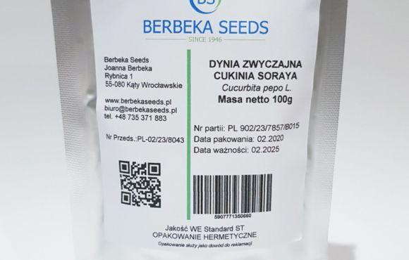 Dynia zwyczajna Cukinia Soraya 100g Standard BerbekaSeeds